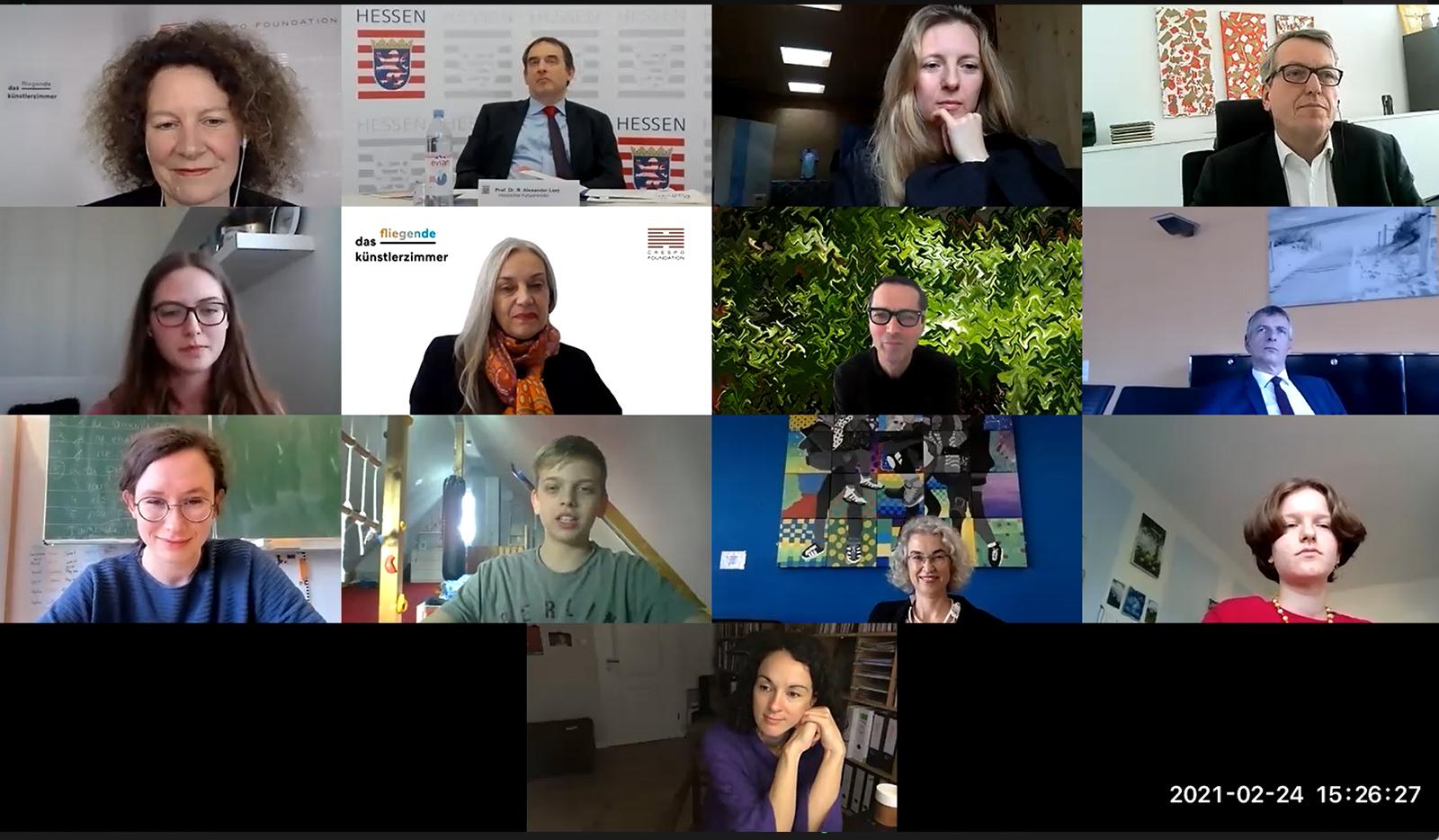 Das digitale Pressegespräch aus Schülerinnen-Sicht